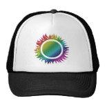 Sunny rainbow sun mesh hat