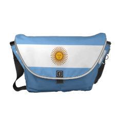 Sunny Rays Sunshine Blue Argentina Flag Rickshaw Messenger Bag at Zazzle