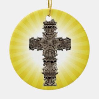 Sunny Religious Cross Spiritual Ornament