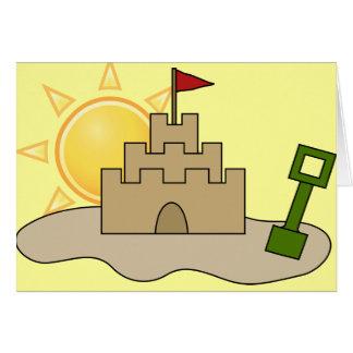 Sunny Sandcastle Card