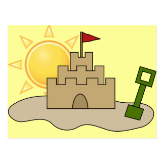 Sunny Sandcastle Postcard