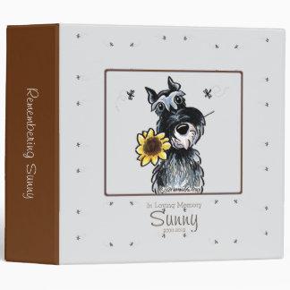 Sunny Schnauzer Personalized Memory Album 3 Ring Binder
