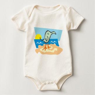 Sunny Seagull Baby Bodysuit