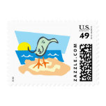 Sunny Seagull Stamp