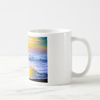 Sunny Seascape Painting by Mazz Coffee Mug