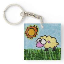 Sunny Sheep Keychain