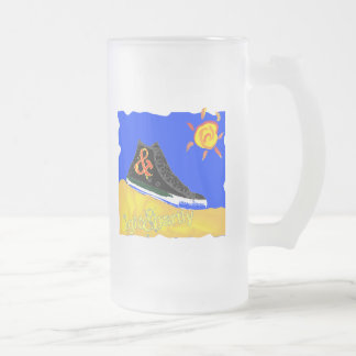 """Sunny Shoe"" by Katie winner 08.03.09 Frosted Glass Beer Mug"