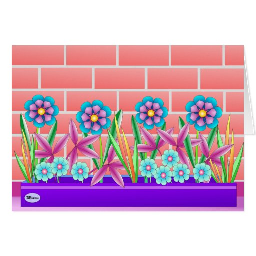 Sunny side of the garden greeting card