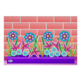 Sunny side of the garden poster