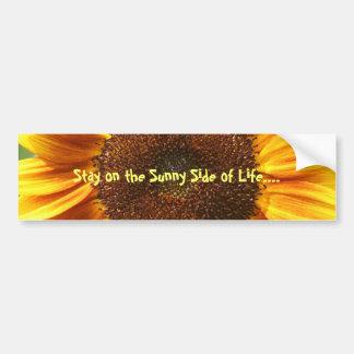 Sunny Side Sunflower Bumper Sticker