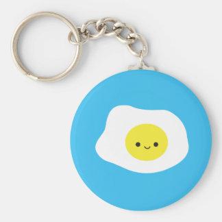 Sunny Side Up Basic Round Button Keychain