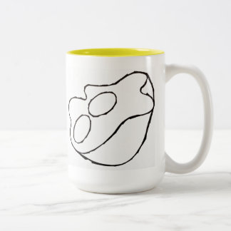 """Sunny Side Up Bowl"" Two-Tone Coffee Mug"