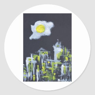 sunny side up classic round sticker