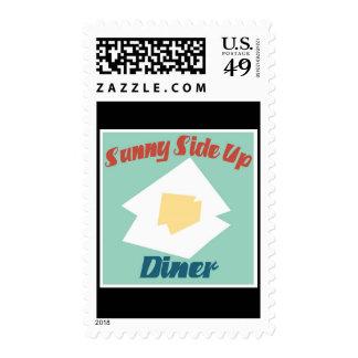 Sunny Side Up Diner Postage Stamp