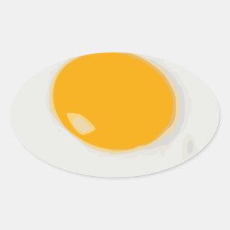 Sunny Side Up Fried Egg Oval Sticker