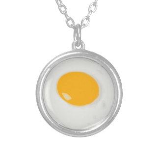 Sunny Side Up Fried Egg Round Pendant Necklace