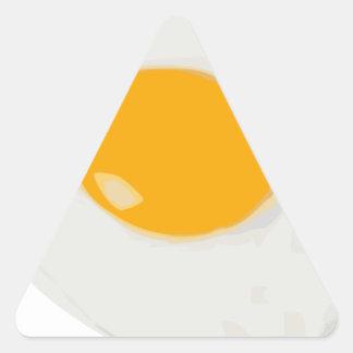Sunny Side Up Fried Egg Triangle Sticker