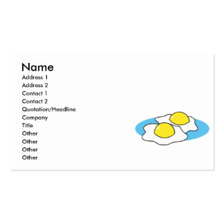 sunny side up fried eggs business card