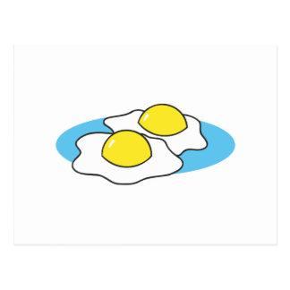 sunny side up fried eggs postcard