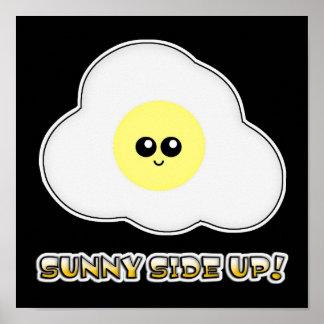 Sunny Side Up Kawaii Egg Posters