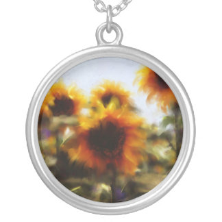 Sunny-side UP Round Pendant Necklace
