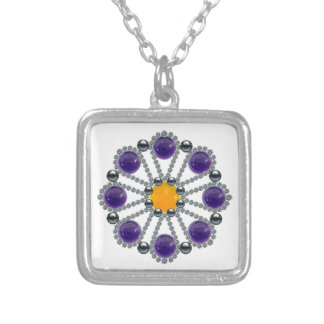Sunny Side Up Square Pendant Necklace