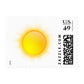 Sunny Sky Cartoon Sun Stamp