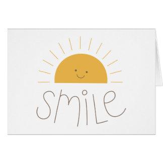 sunny smile card
