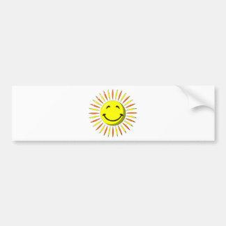 Sunny Smiley Face Bumper Sticker