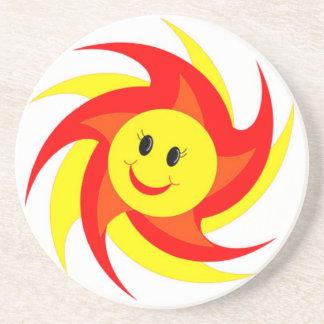 Sunny Smiley Face Coasters