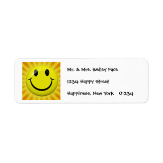 Sunny Smiley Face Labels