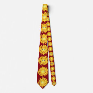Sunny Smiley Face Red Tie