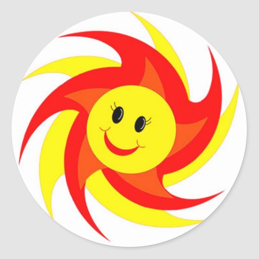 Sunny Smiley Face Stickers