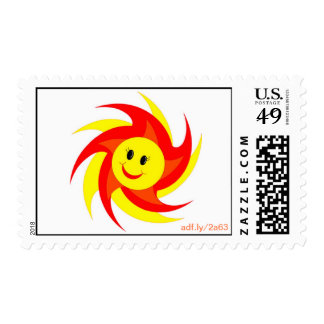 Sunny Smiley Face U.S. Postage Stamps