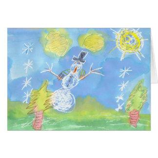 "Sunny Snowman - ""Happy Holidays"" Card"