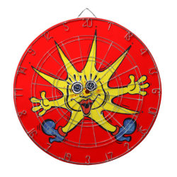 sunny star dartboard with darts