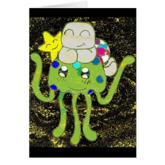 Sunny Star, Jellyfish and Turtle Friends Greeting Card