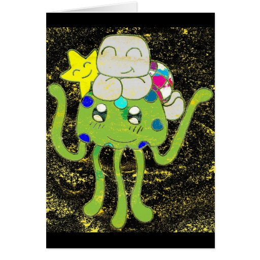 Sunny Star, Jellyfish and Turtle Friends Greeting Cards