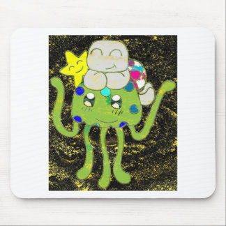 Sunny Star, Jellyfish and Turtle Friends Mouse Pad