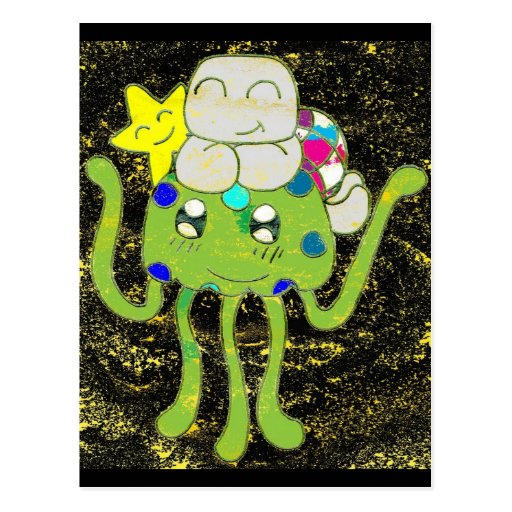 Sunny Star, Jellyfish and Turtle Friends Post Cards