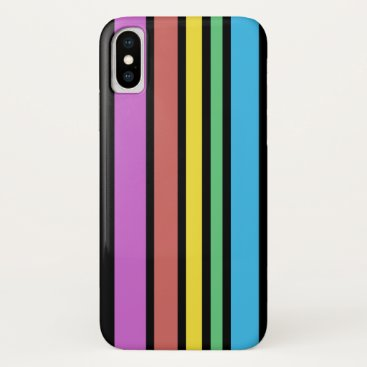 Sunny Stripes (black) iPhone XS Case