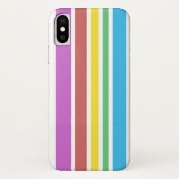 Sunny Stripes (white) iPhone XS Case
