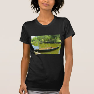Sunny Summer Day with Canoe on the Water. T-shirt