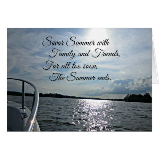 Sunny Summer on the Water. Card