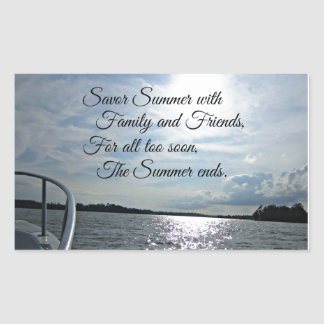 Sunny Summer on the Water. Sticker