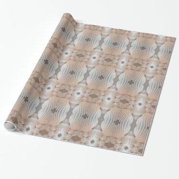 Sunny Summer Sea Shells Romantic, Exotic Tropical Wrapping Paper
