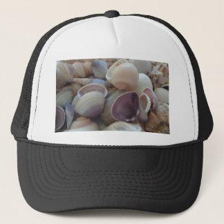 Sunny Summer Seashells, Sea Shell Beach Ocean Trucker Hat