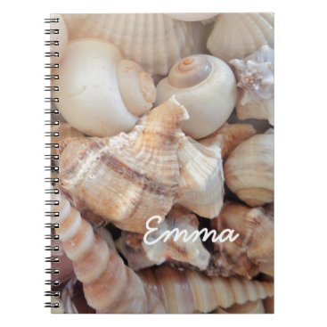 Beach Themed Sunny Summer Seashells, Sea Shells Beach Love Notebook