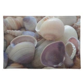Sunny Summer Seashells Sea Shells Exotic Tropical Cloth Place Mat