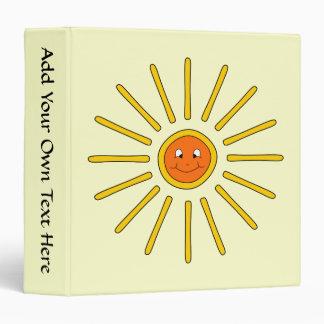 Sunny Summer Sun. Yellow on Cream. Binder